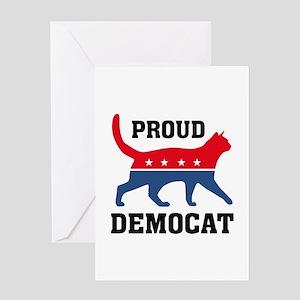 Proud Democat Greeting Card