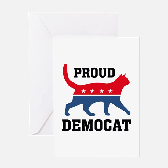 Proud Democat Greeting Card