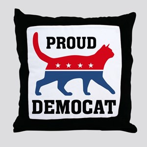Proud Democat Throw Pillow