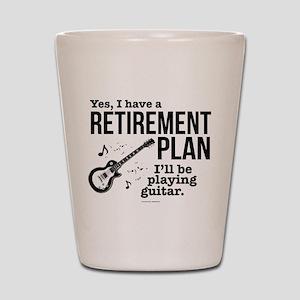 Guitar Retirement Plan Shot Glass