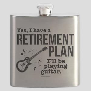 Guitar Retirement Plan Flask