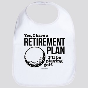 Golf Retirement Plan Baby Bib