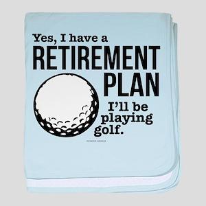 Golf Retirement Plan baby blanket