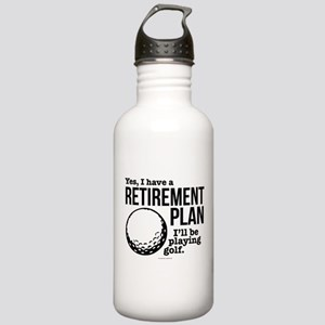 Golf Retirement Plan Stainless Water Bottle 1.0L