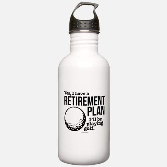 Golf Retirement Plan Water Bottle