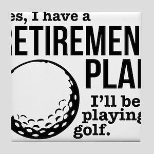 Golf Retirement Plan Tile Coaster