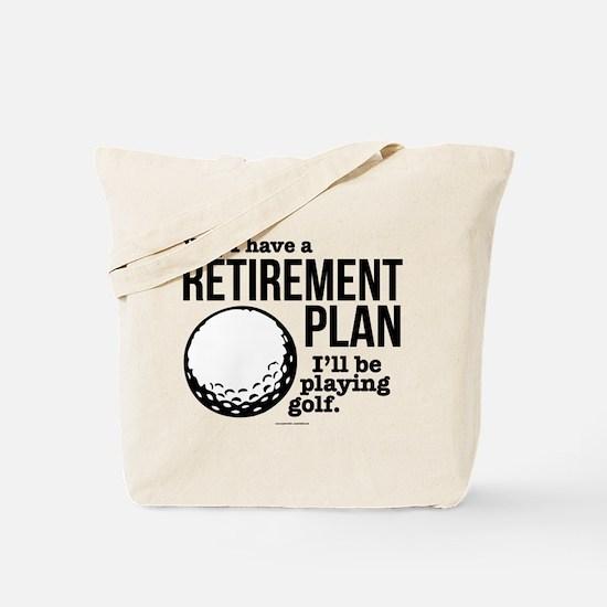 Golf Retirement Plan Tote Bag