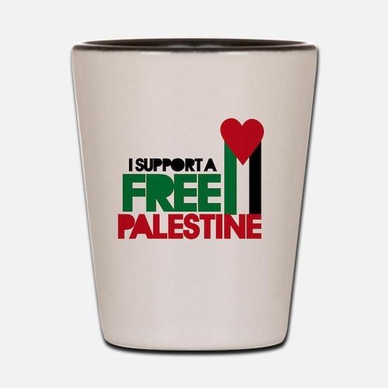 Funny Free palestine Shot Glass
