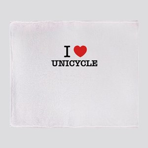 I Love UNICYCLE Throw Blanket