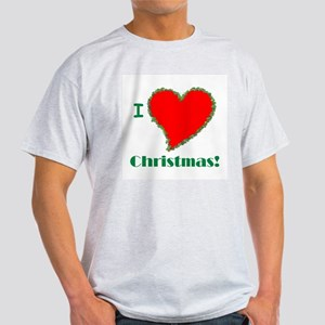I Love Christmas Heart Light T-Shirt