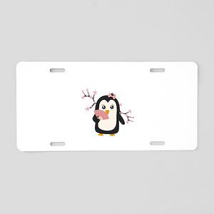 Japanese Penguin Aluminum License Plate