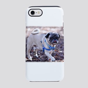 Pug Posing in the Park iPhone 8/7 Tough Case