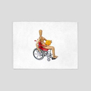 WheelchairBasketball 5'x7'Area Rug