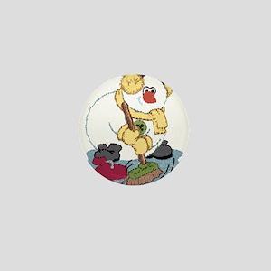 Snowman Curling Mini Button