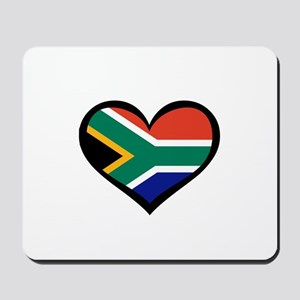 South Africa Love Heart Mousepad