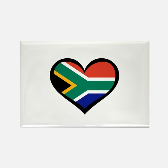 South Africa Love Heart Rectangle Magnet
