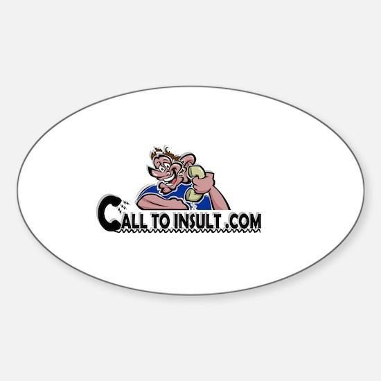 CalltoInsult.com Oval Decal