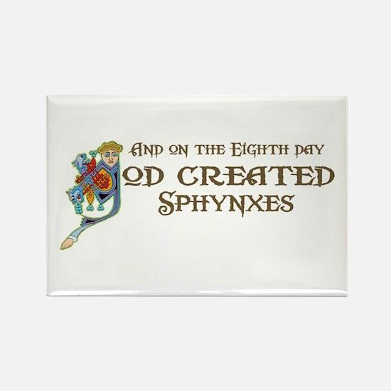 God Created Sphynxs Rectangle Magnet