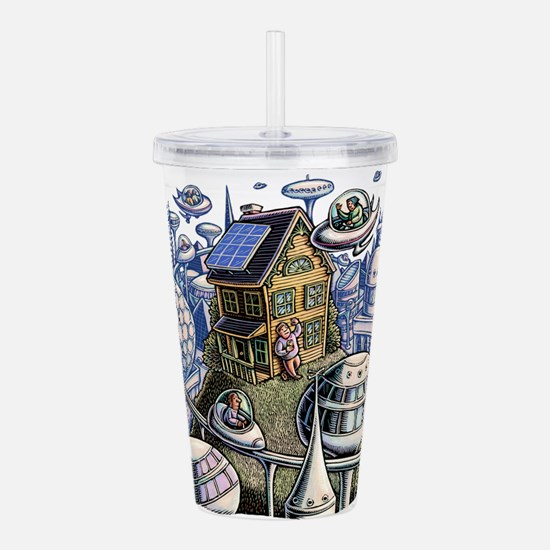 City of the Future, wi Acrylic Double-wall Tumbler