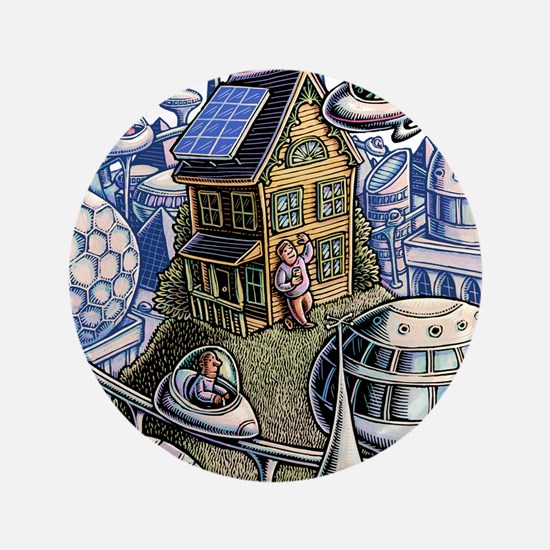 City of the Future, with Old House Button
