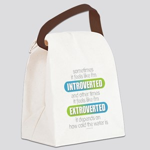 Introverted - Extroverted Canvas Lunch Bag
