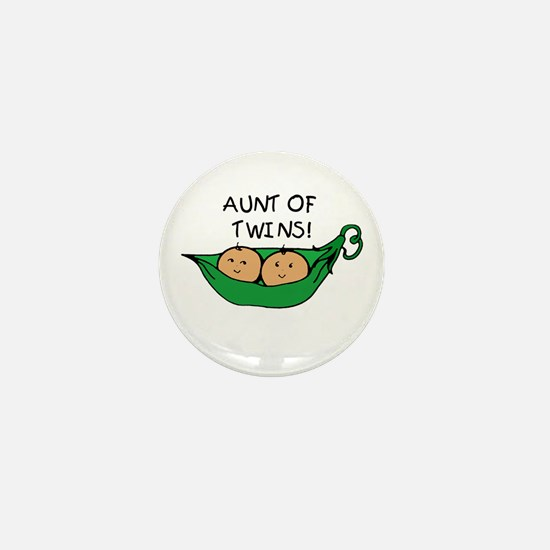 Aunt of Twins Pod Mini Button