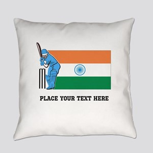 Personalize India Cricket Everyday Pillow