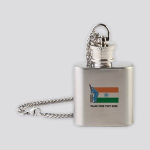 Personalize India Cricket Flask Necklace