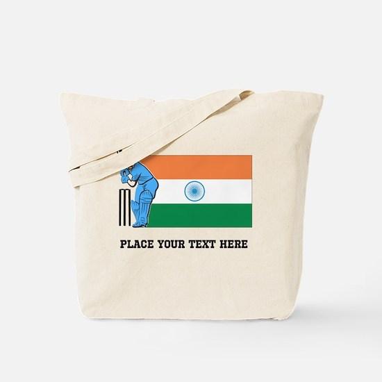 Personalize India Cricket Tote Bag