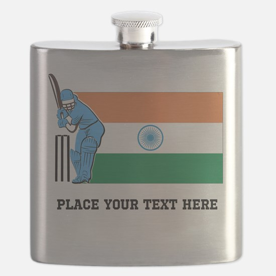 Personalize India Cricket Flask