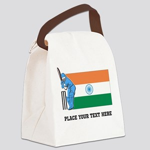 Personalize India Cricket Canvas Lunch Bag