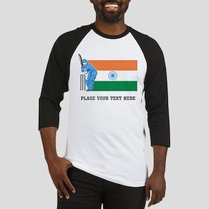 Personalize India Cricket Baseball Jersey