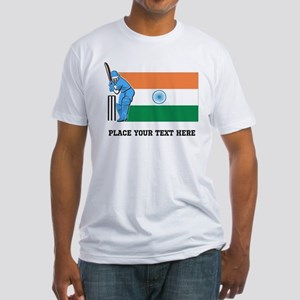 Personalize India Cricket Fitted T-Shirt