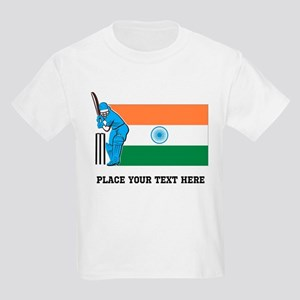 Personalize India Cricket Kids Light T-Shirt