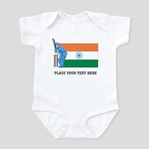 Personalize India Cricket Infant Bodysuit