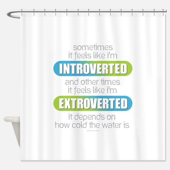 Introverted - Extroverted Shower Curtain