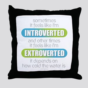 Introverted - Extroverted Throw Pillow