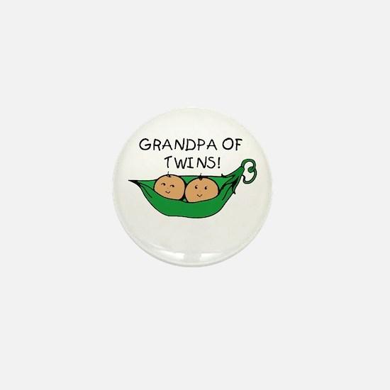 Grandpa of Twins Pod Mini Button