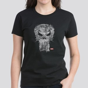 Punisher Skull Scratchy Women's Dark T-Shirt