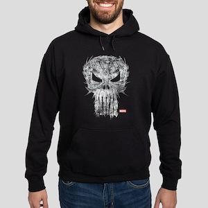 Punisher Skull Scratchy Hoodie (dark)