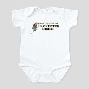 God Created Siameses Infant Bodysuit