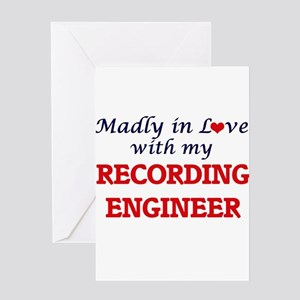 Madly in love with my Recording Eng Greeting Cards