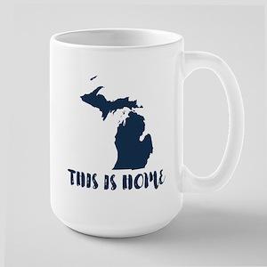Michigan - This Is Home Large Mug