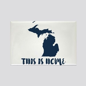 Michigan - This Is Home Rectangle Magnet