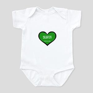 Saudi Arabian Love Heart Infant Bodysuit