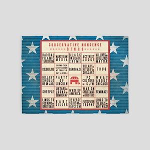 Conservative Bingo 5'x7'Area Rug