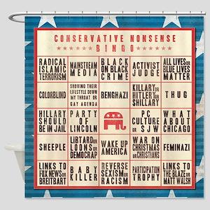 Conservative Bingo Shower Curtain