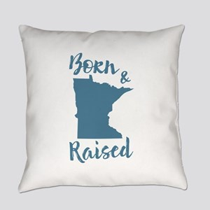 Minnesota - Born & Raised Everyday Pillow
