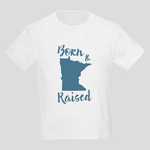 Minnesota - Born & Raised Kids Light T-Shirt