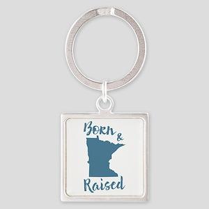Minnesota - Born & Raised Square Keychain
